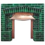 Stanshall Arts and Crafts tiled fireplace insert