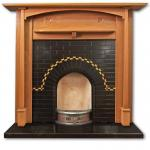 Twistleton Arch tiled fireplace insert